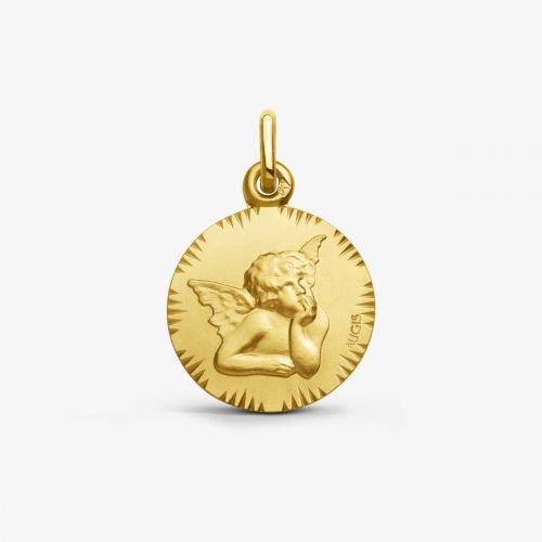 Médaille Ange de Raphaël - Or Jaune 18 carats - 16mm