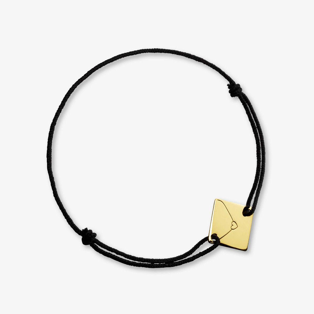 Bracelet cordon Enveloppe Or Jaune 18 carats