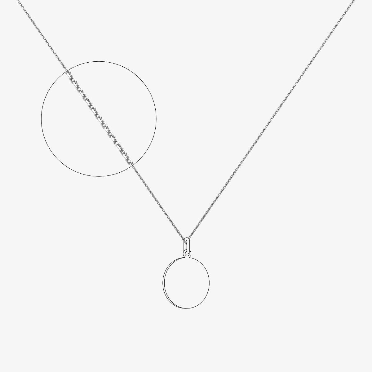 Chaîne maille forçat limée - épaisseur 1,2 mm - Or blanc 18 carats - 40 cm