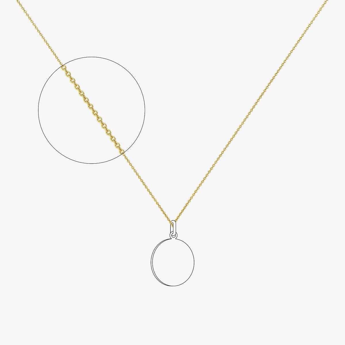 Chaîne maille forçat rond - épaisseur 0,70 mm - Or jaune 18 carats - 40 cm