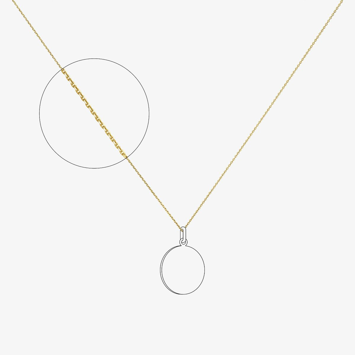 Chaîne forçat limé 1,2 mm en Or jaune 18 carats - 40 cm