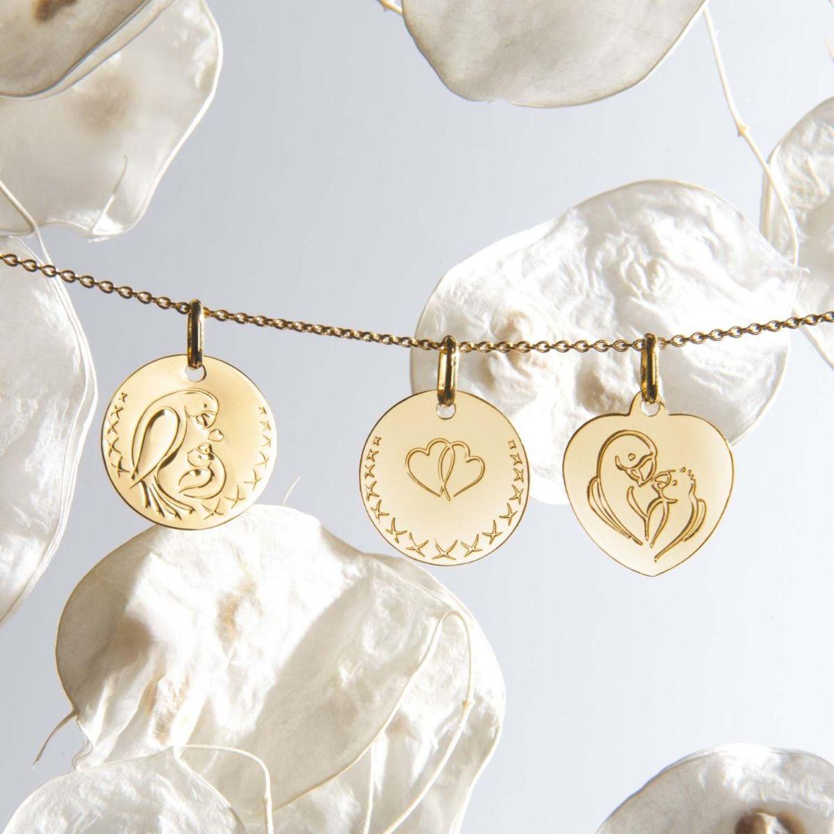 Composition médailles Love Bird