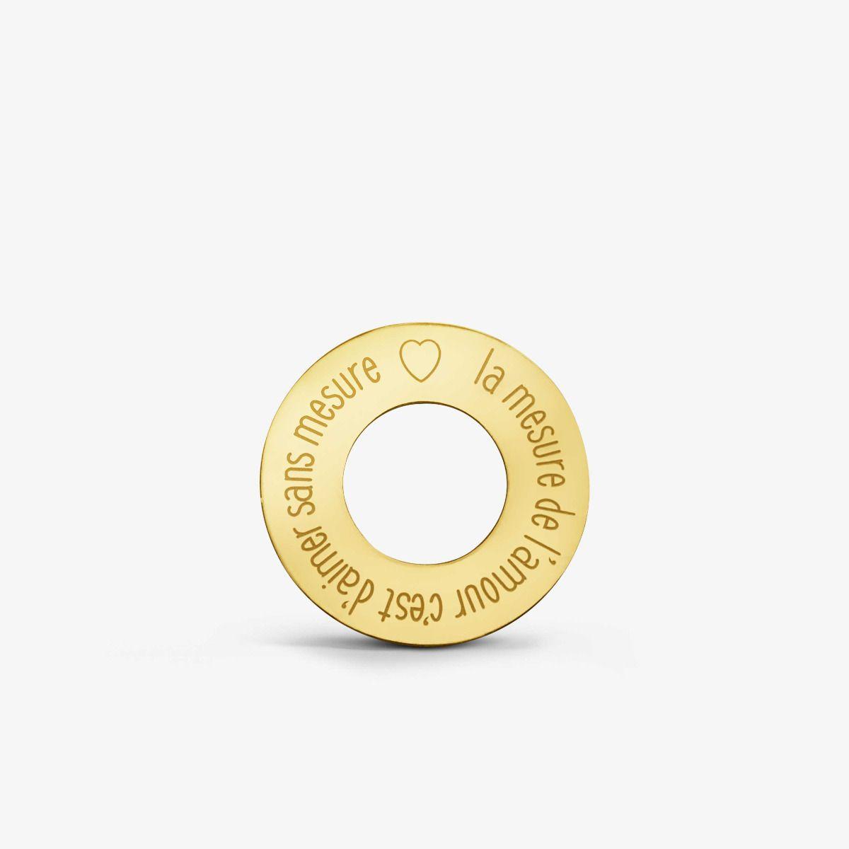 Jeton Amour ajouré Or Jaune 18 carats - 16 mm