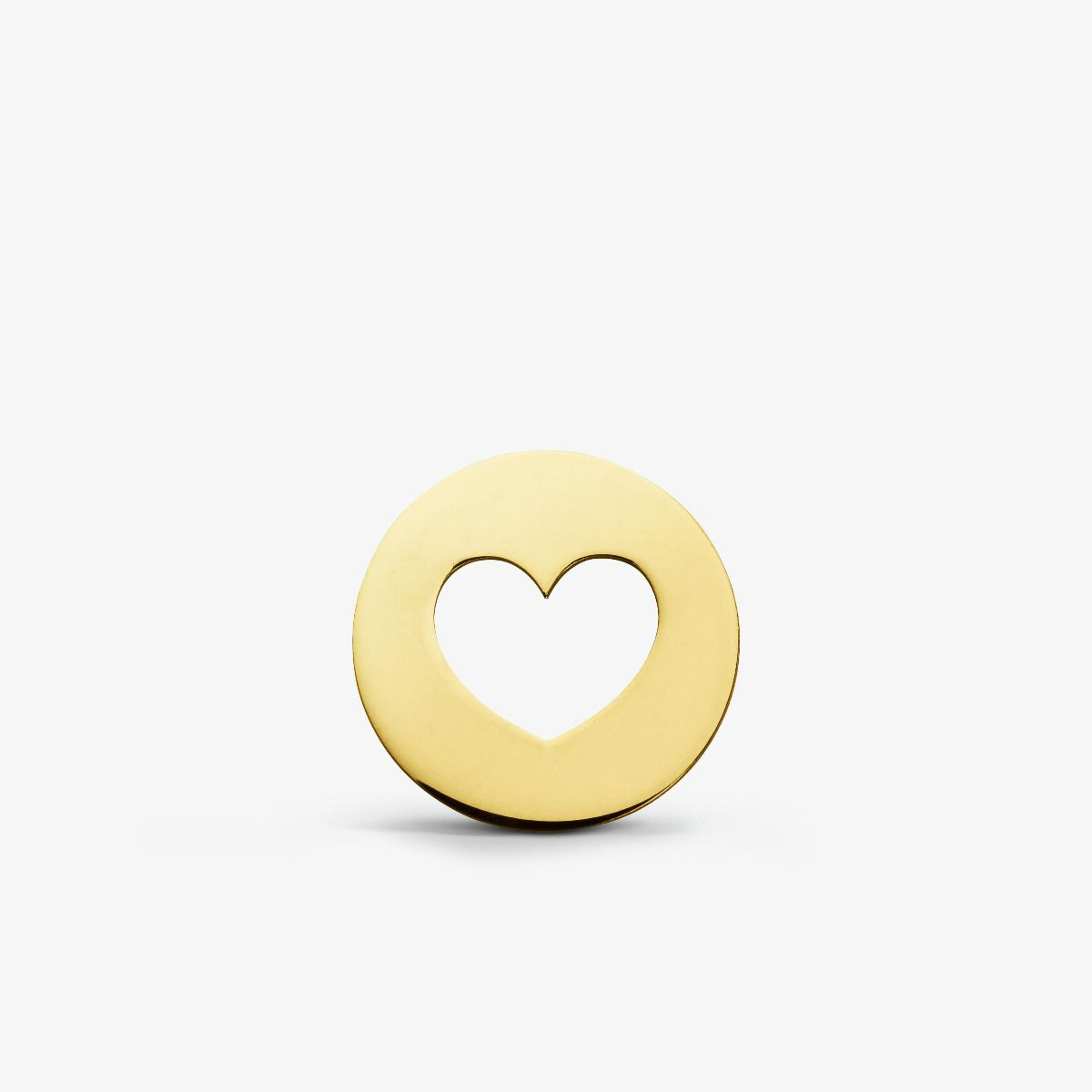 Pendentif Cœur Ajouré en Or Jaune 18 carats - 14 mm