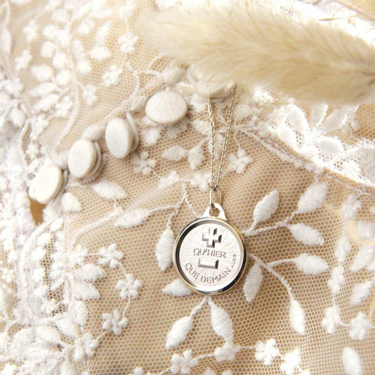 La Médaille d'Amour L'Originale Or Blanc 18 carats - 18 mm
