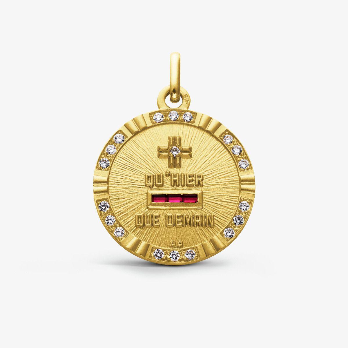 La Médaille d'Amour L'Unique Or jaune 18 carats et diamants 0.28 carats