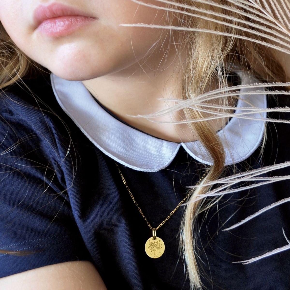 Médaille Arbre de Vie avec cœurs