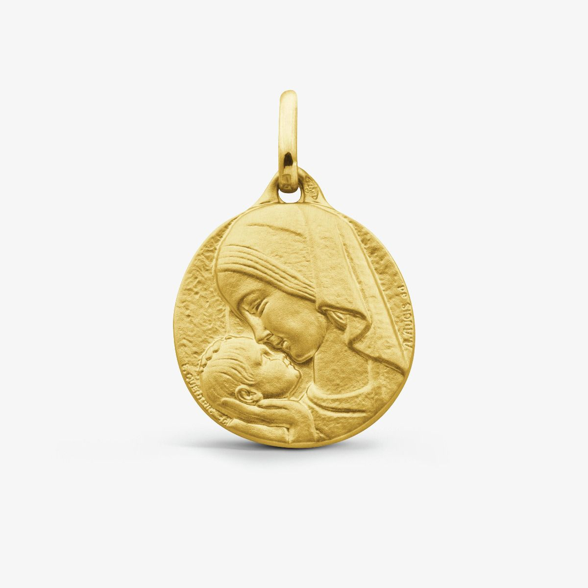 Médaille Amour Maternel Or Jaune 18 carats - 18 mm