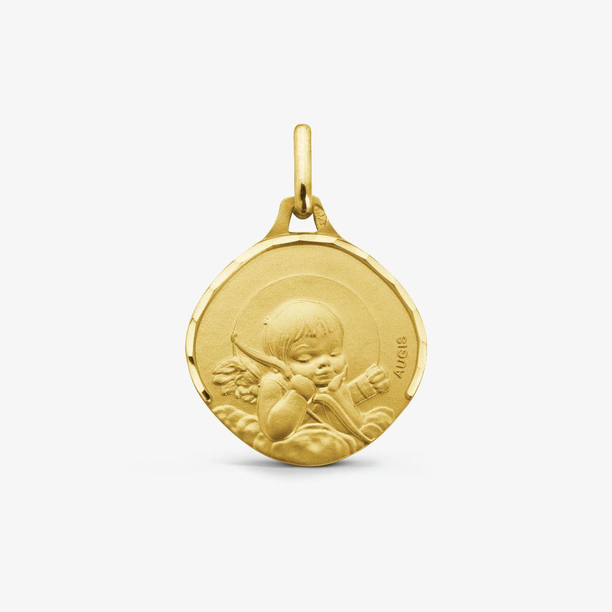 Médaille Ange à l'Arc Or Jaune 18 carats - 15 mm