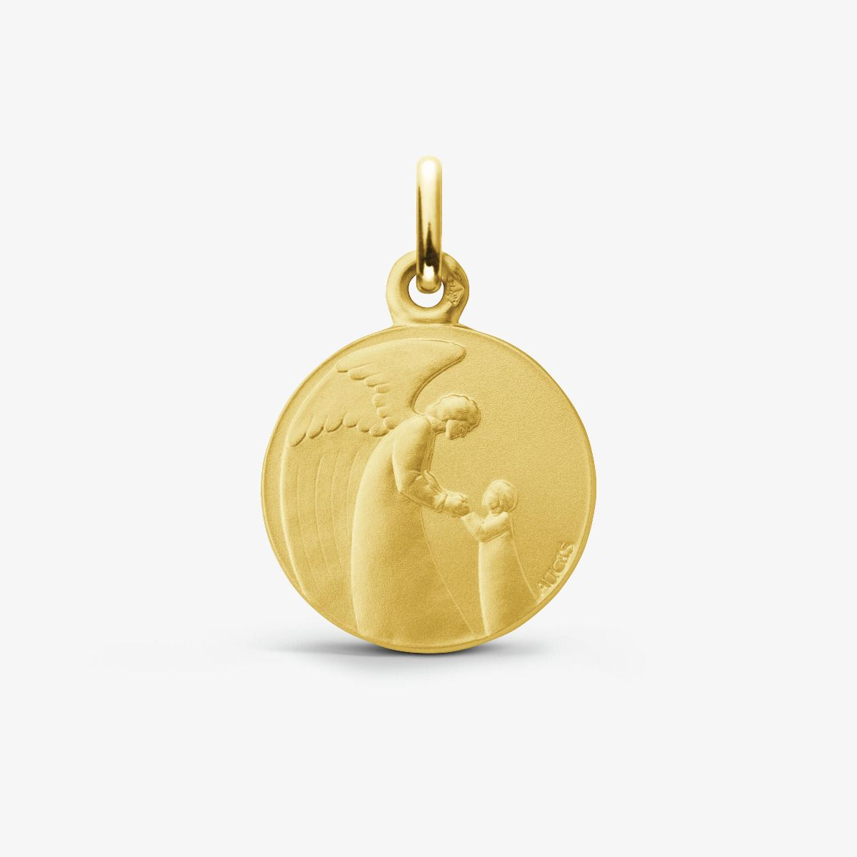 Médaille Ange Gardien Enfant Or Jaune 18 carats 16 mm