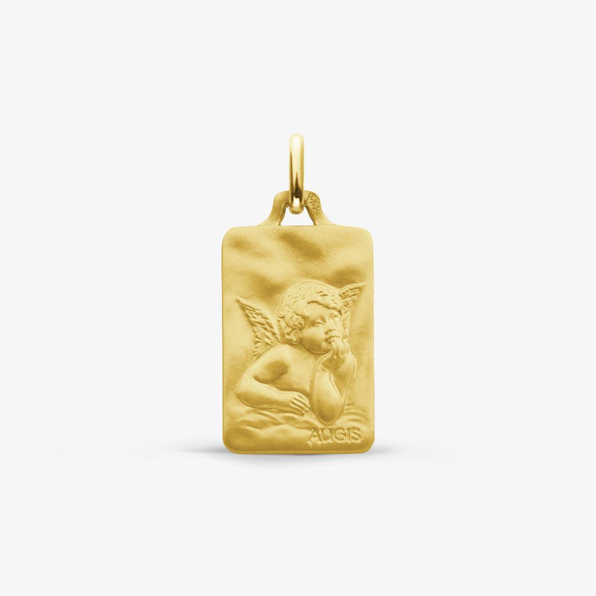 Médaille Ange de Raphaël Or Jaune 18 carats - 16 mm