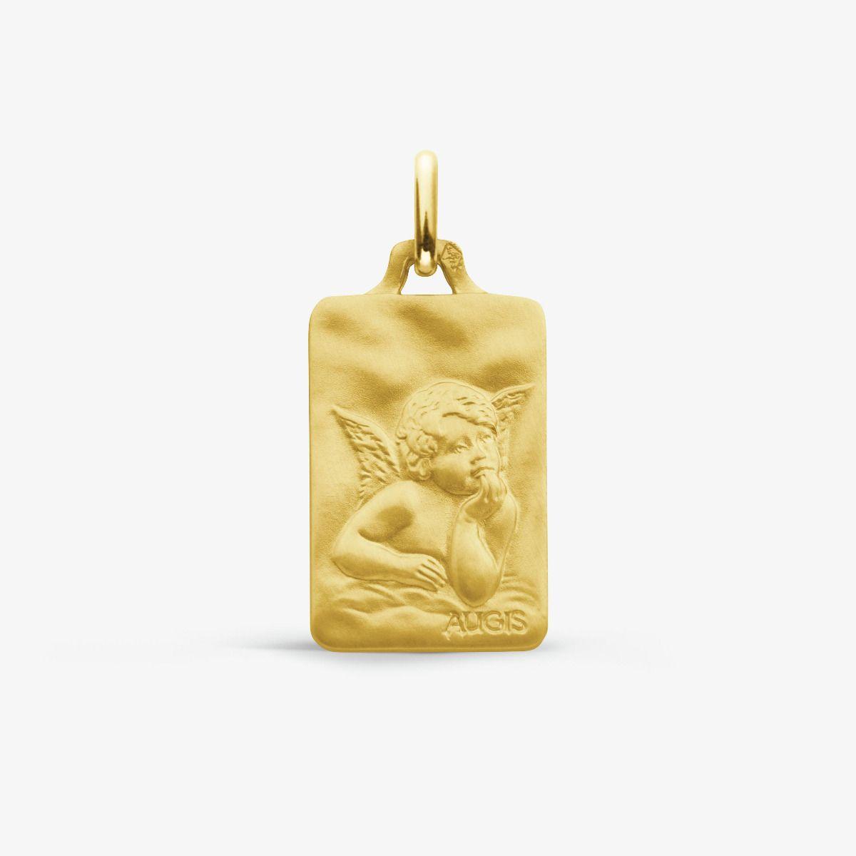 Médaille Ange de Raphaël Or Jaune 18 carats - 18 mm