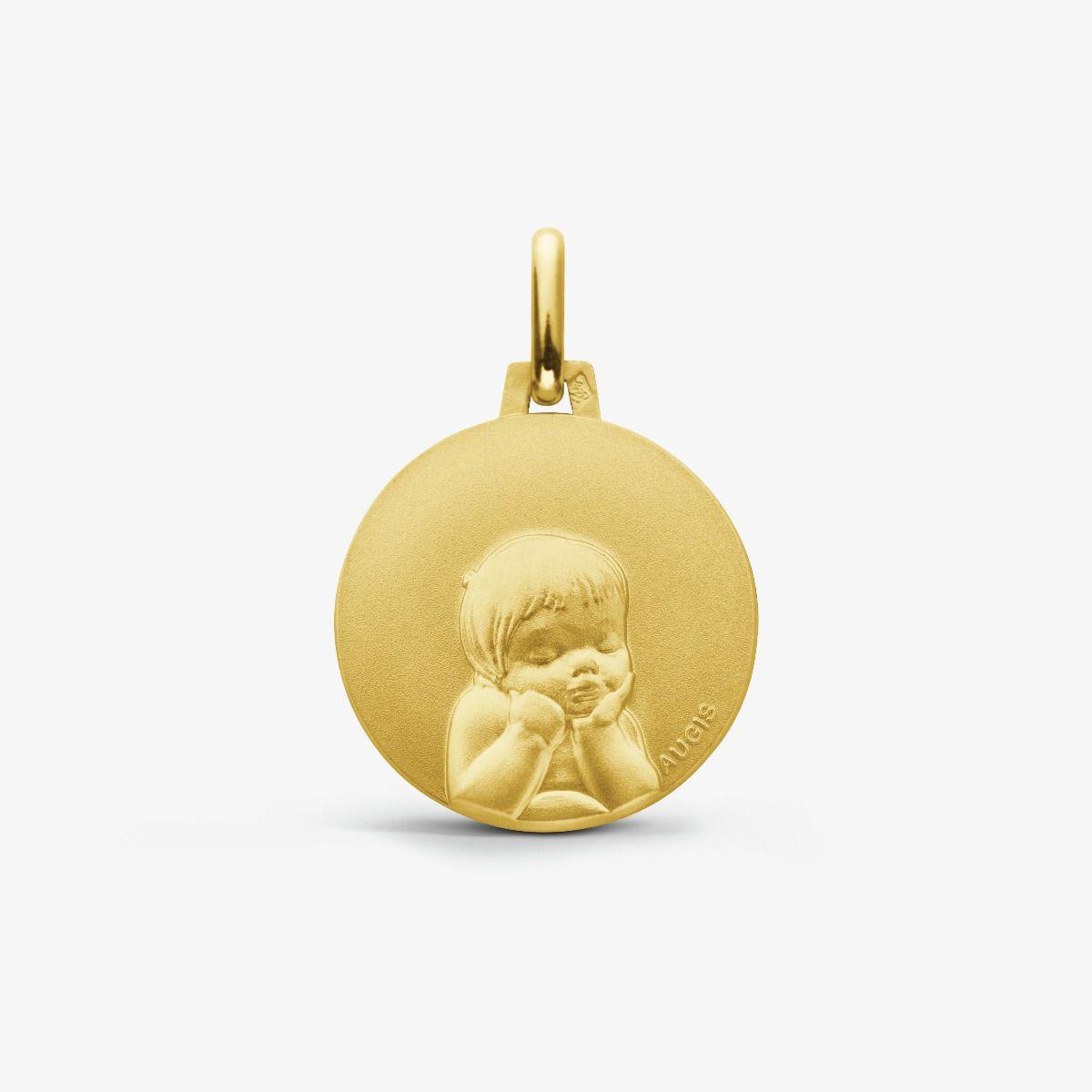 Médaille Chérubin Or Jaune 18 carats - 16 mm