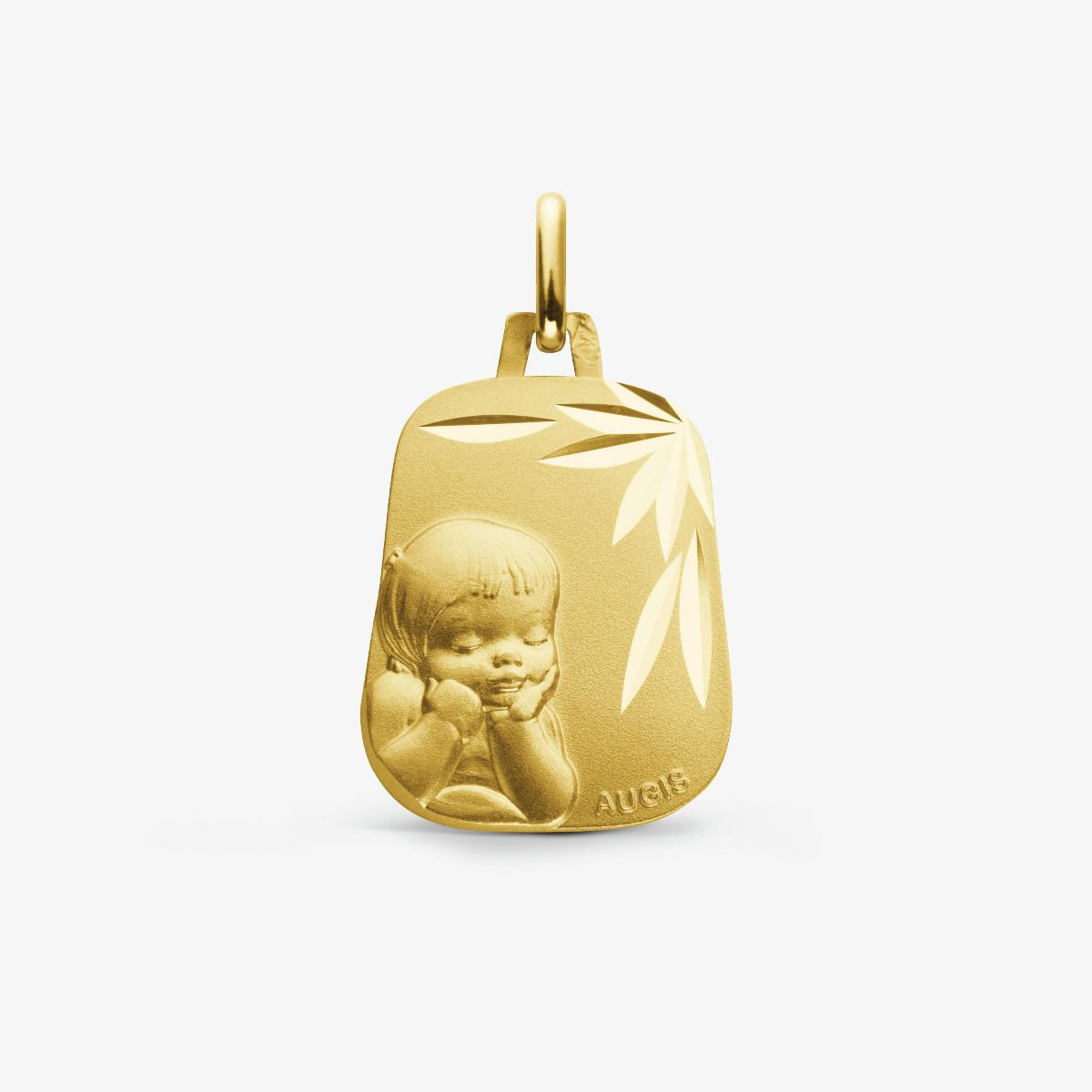 Médaille Chérubin Or Jaune 18 carats - 18 mm