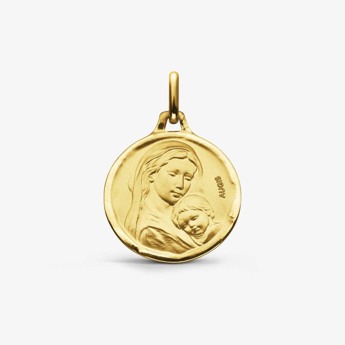 Médaille maternité Or Jaune 18 carats - 16 mm
