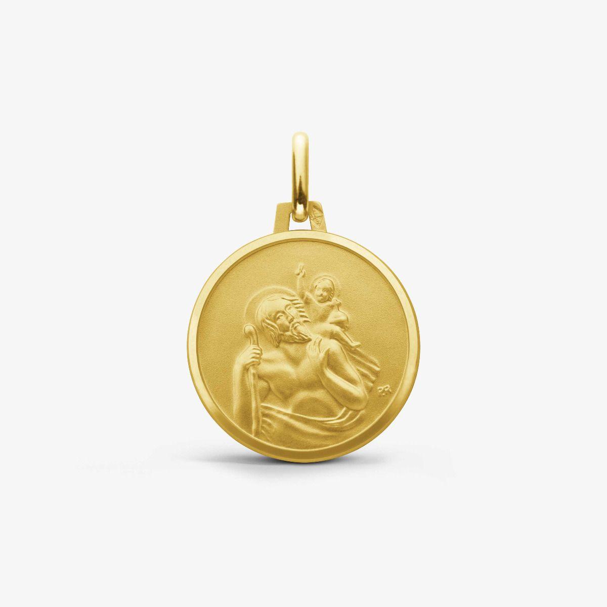 Médaille Saint Christophe Or Jaune 9 carats - 16 mm