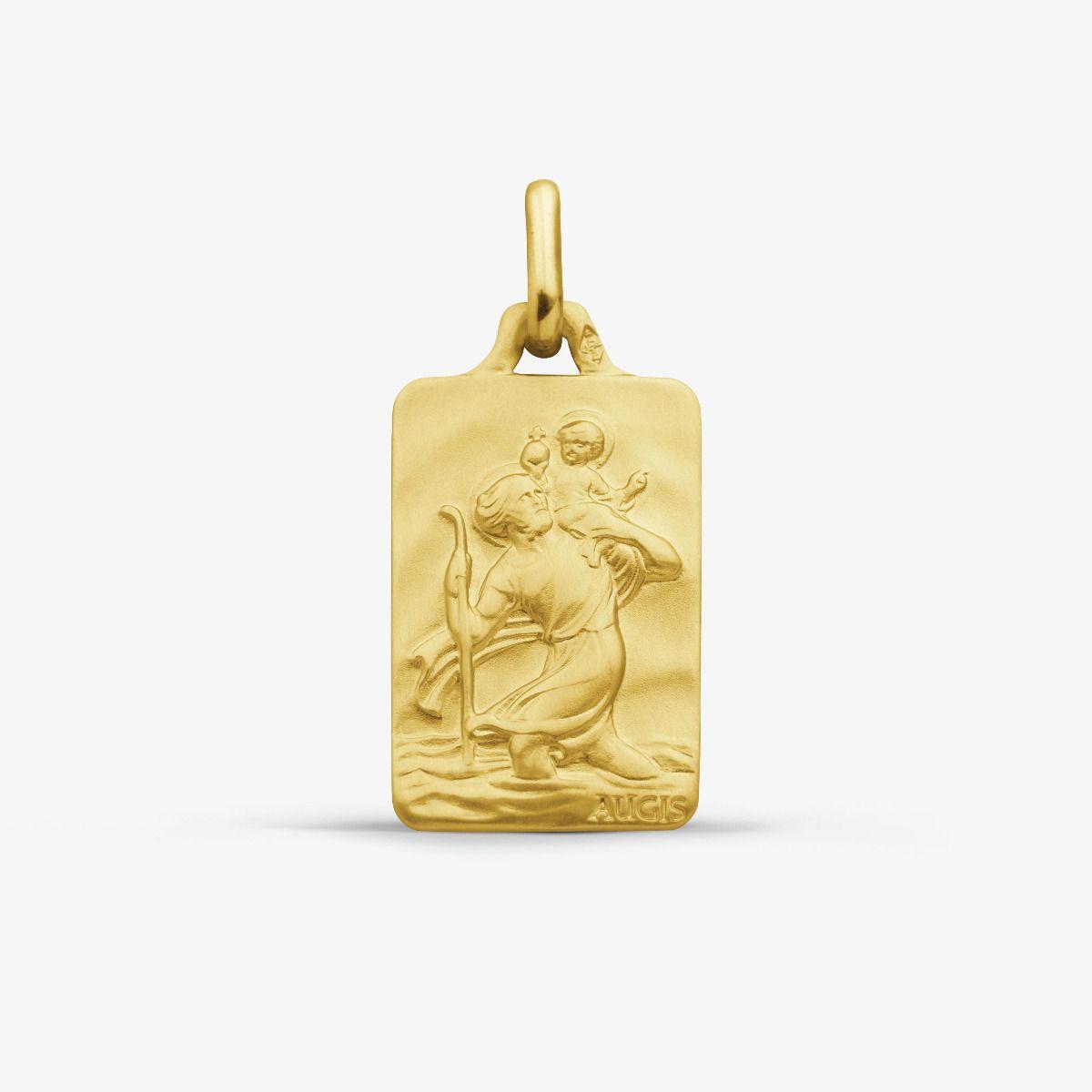 Médaille Saint Christophe Or Jaune 18 carats - 18 mm
