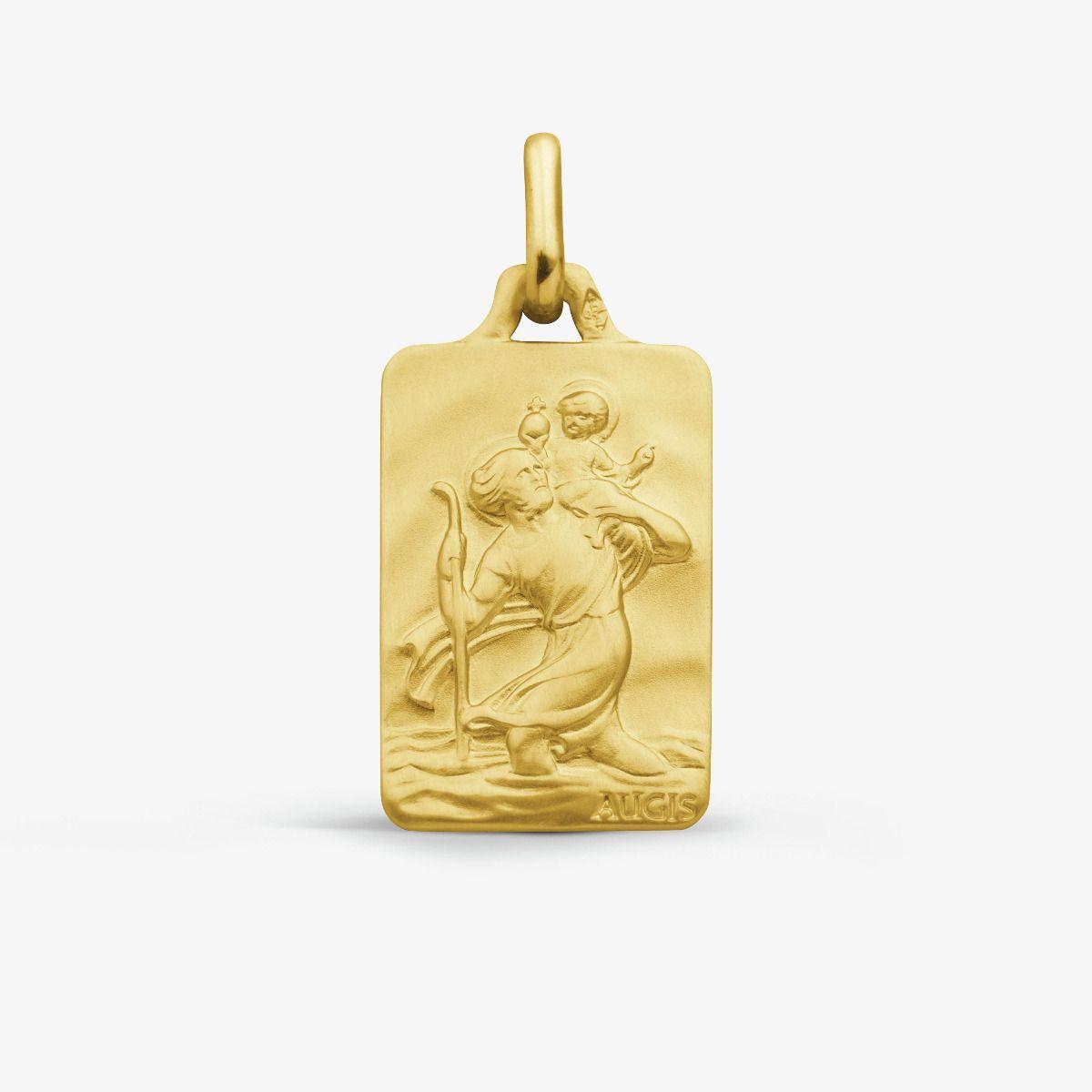 Médaille Saint Christophe Or Jaune 18 carats - 20 mm