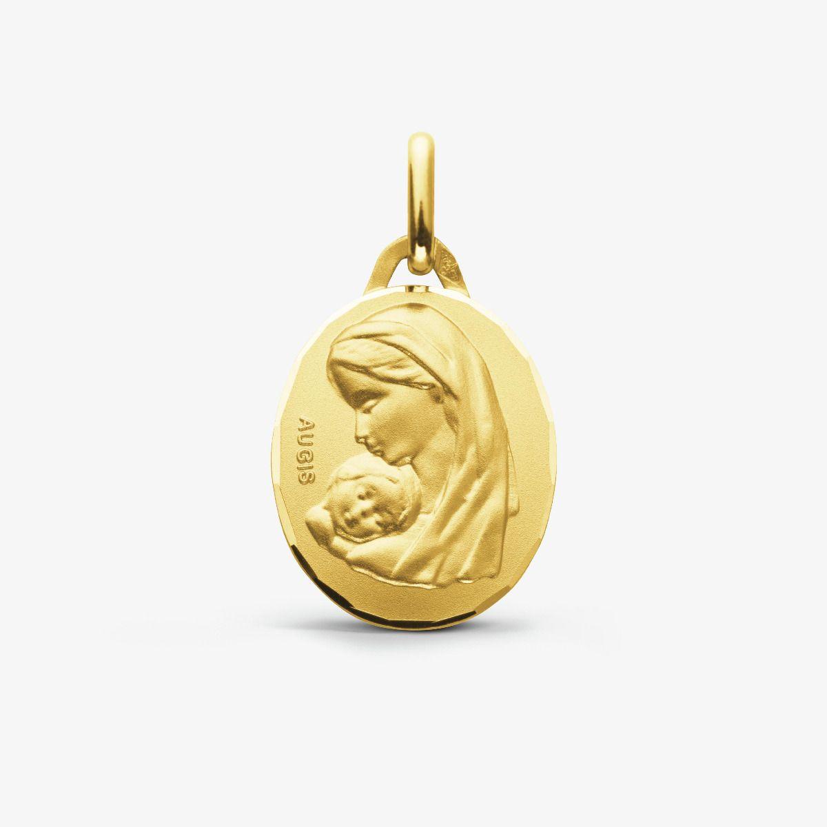 Médaille Vierge à l'Enfant Or Jaune 18 carats - 18 mm
