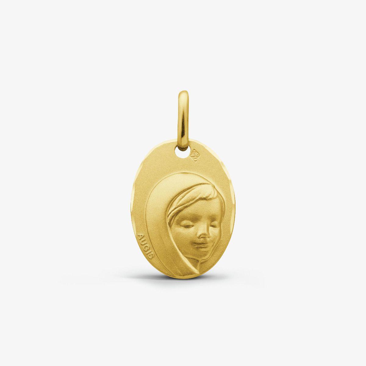 Médaille Vierge au Voile Or Jaune 9 carats - 16 mm