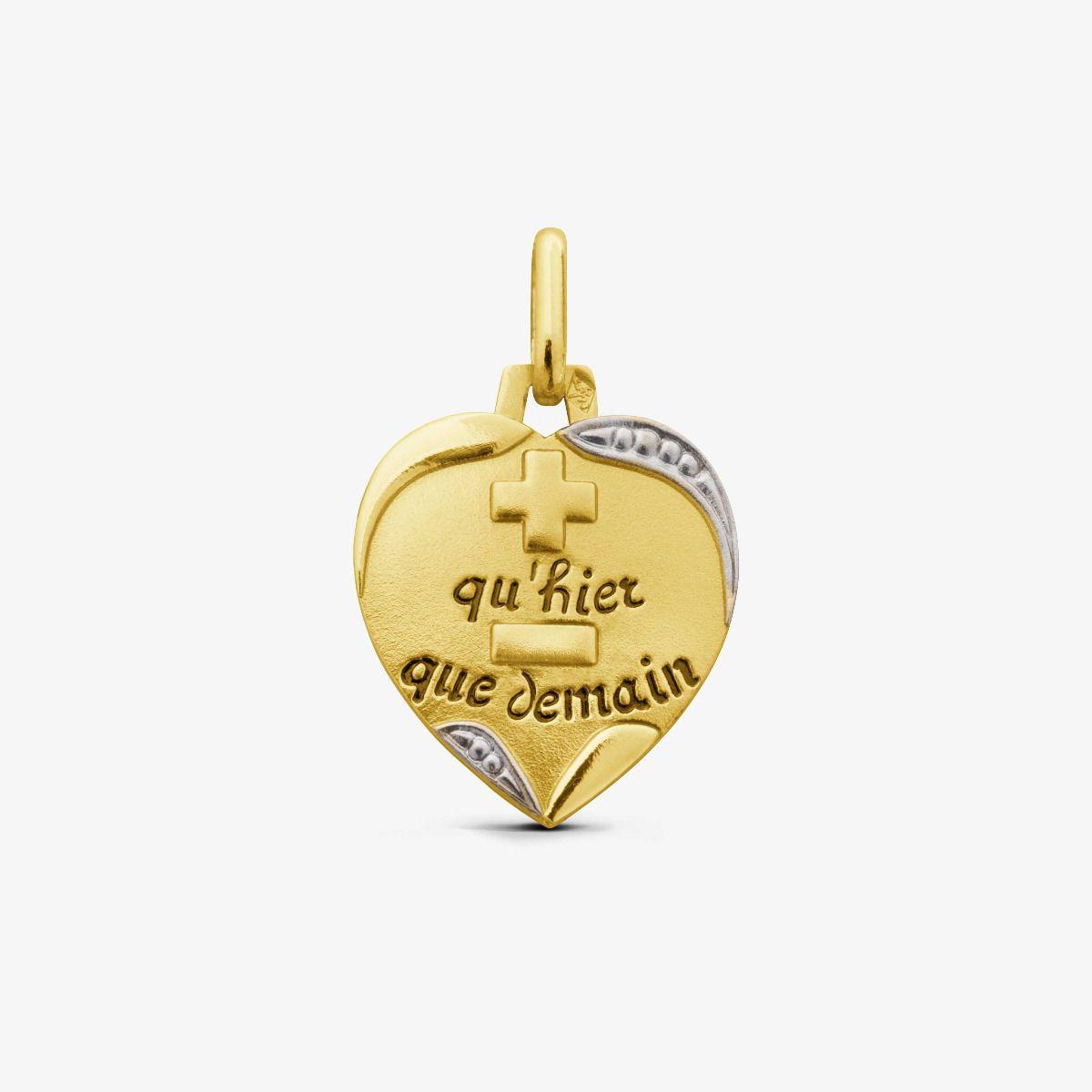 La Médaille d'amour cœur Or Jaune 18 carats - 16 mm
