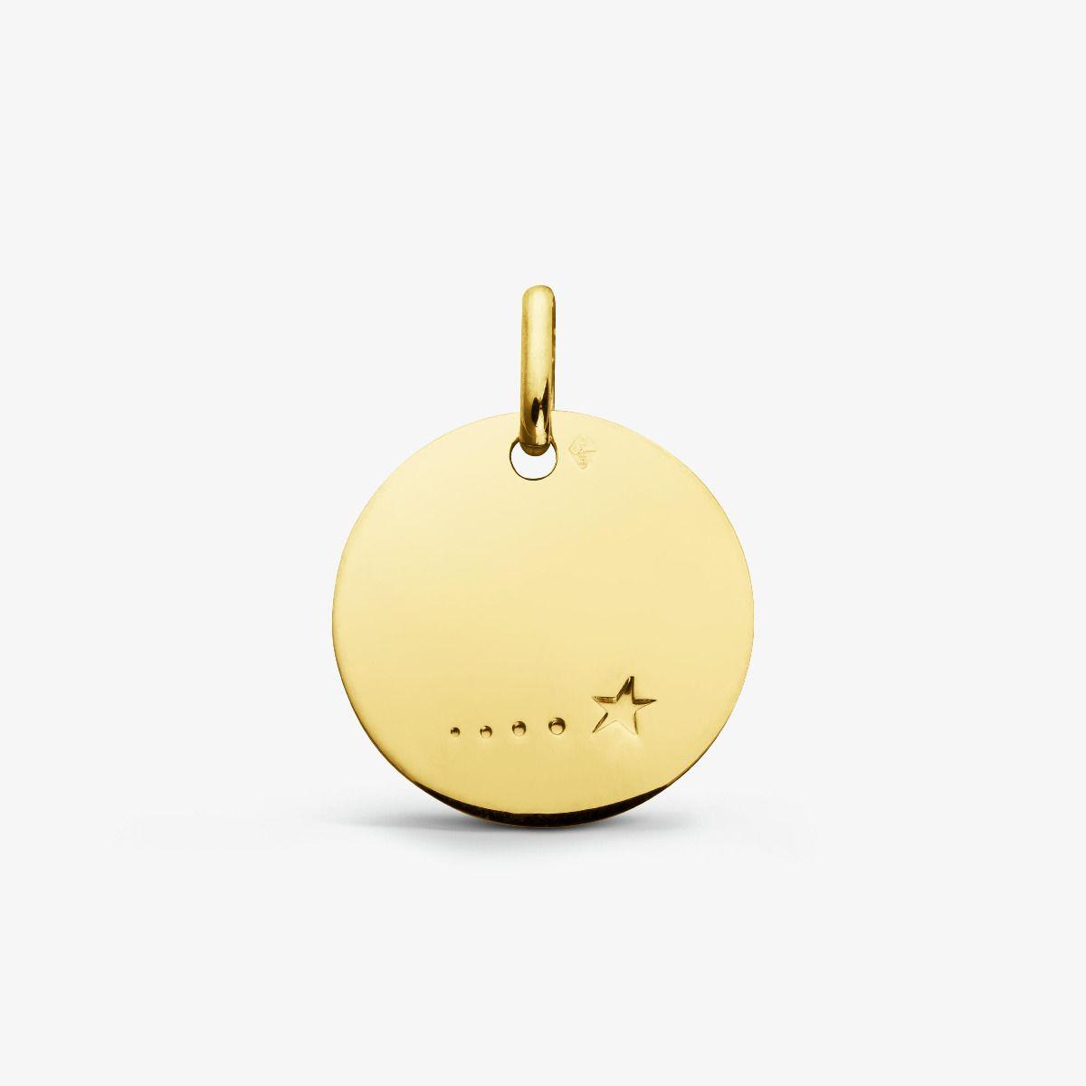 Médaille Étoile Or Jaune 18 carats - 16 mm