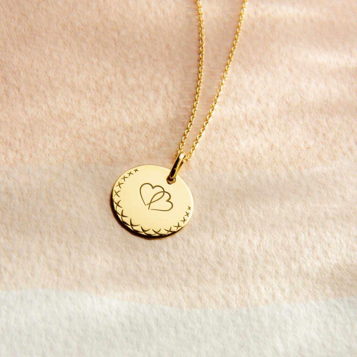 Médaille Love Bird Cœurs