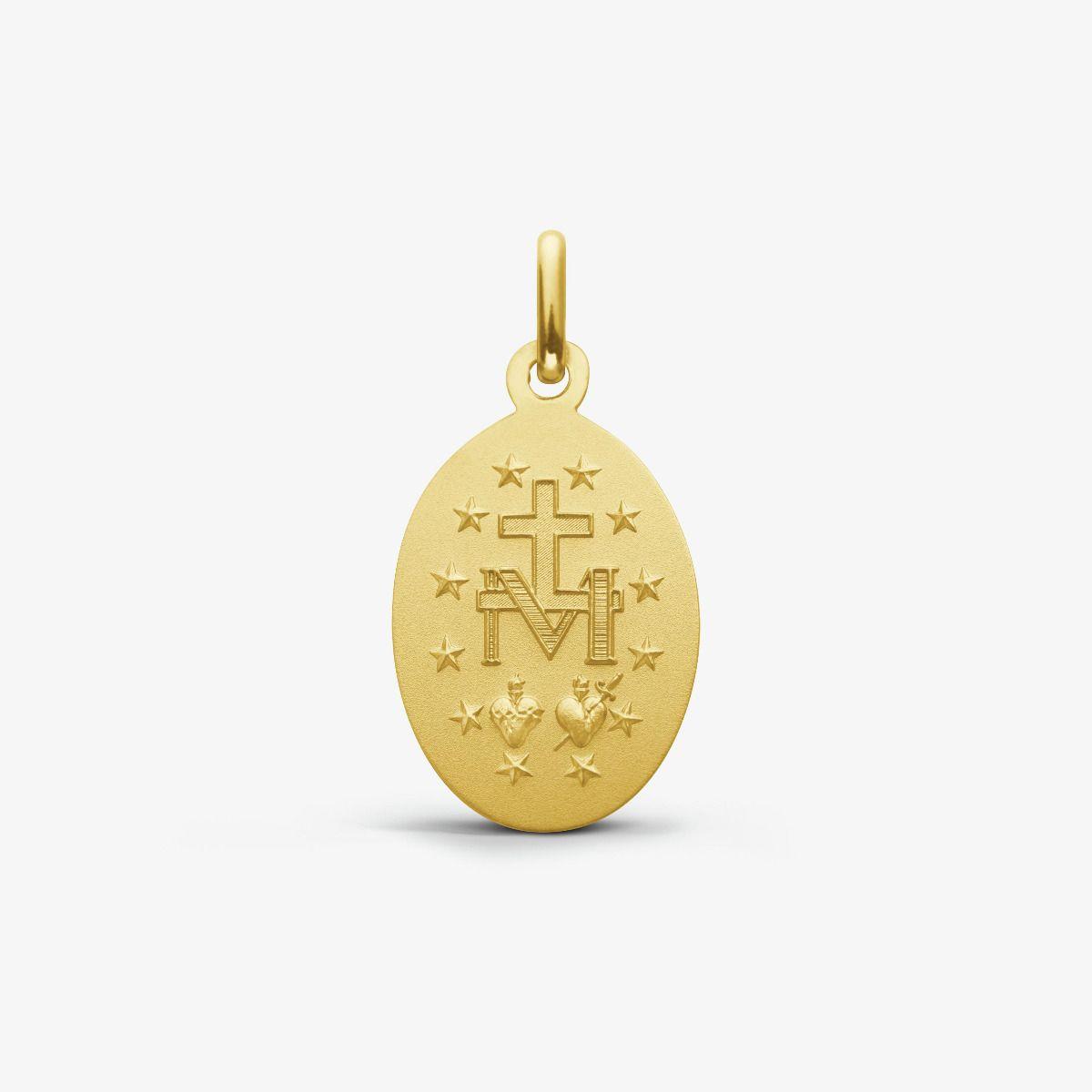 Médaille Miraculeuse en Or Jaune 18 carats - 17 mm - revers
