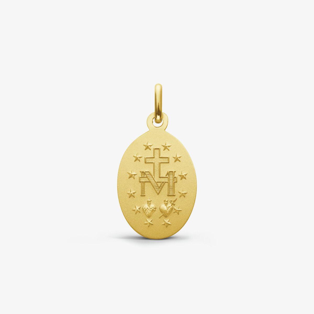 Médaille Miraculeuse ovale en Or Jaune 9 carats - 14 mm - revers