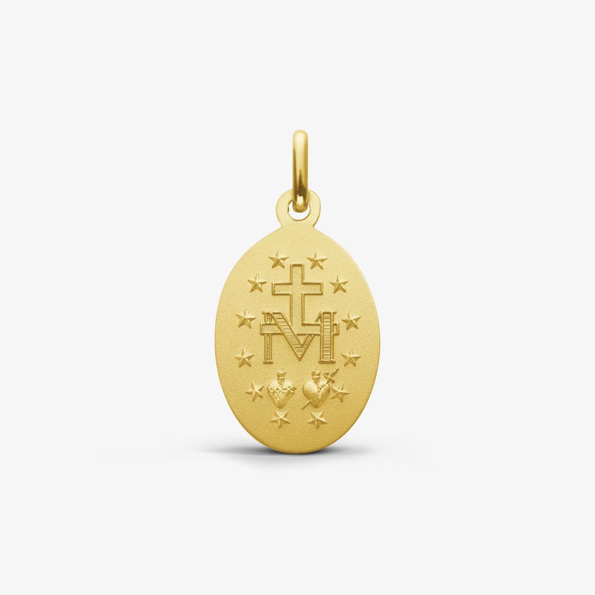 Médaille Miraculeuse en Or Jaune 9 carats - 17 mm - revers