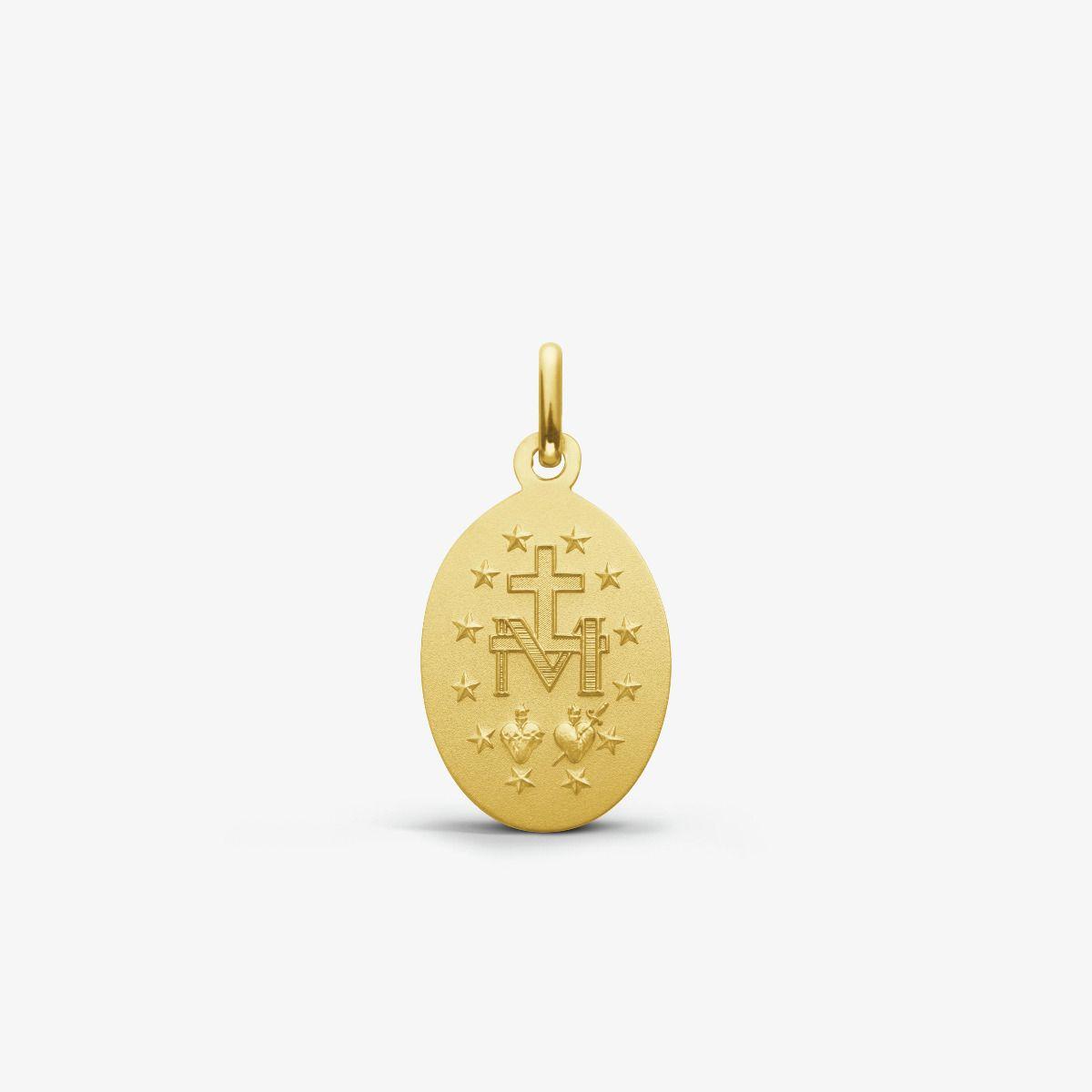 Médaille Miraculeuse en Or Jaune 9 carats - 9 mm - revers