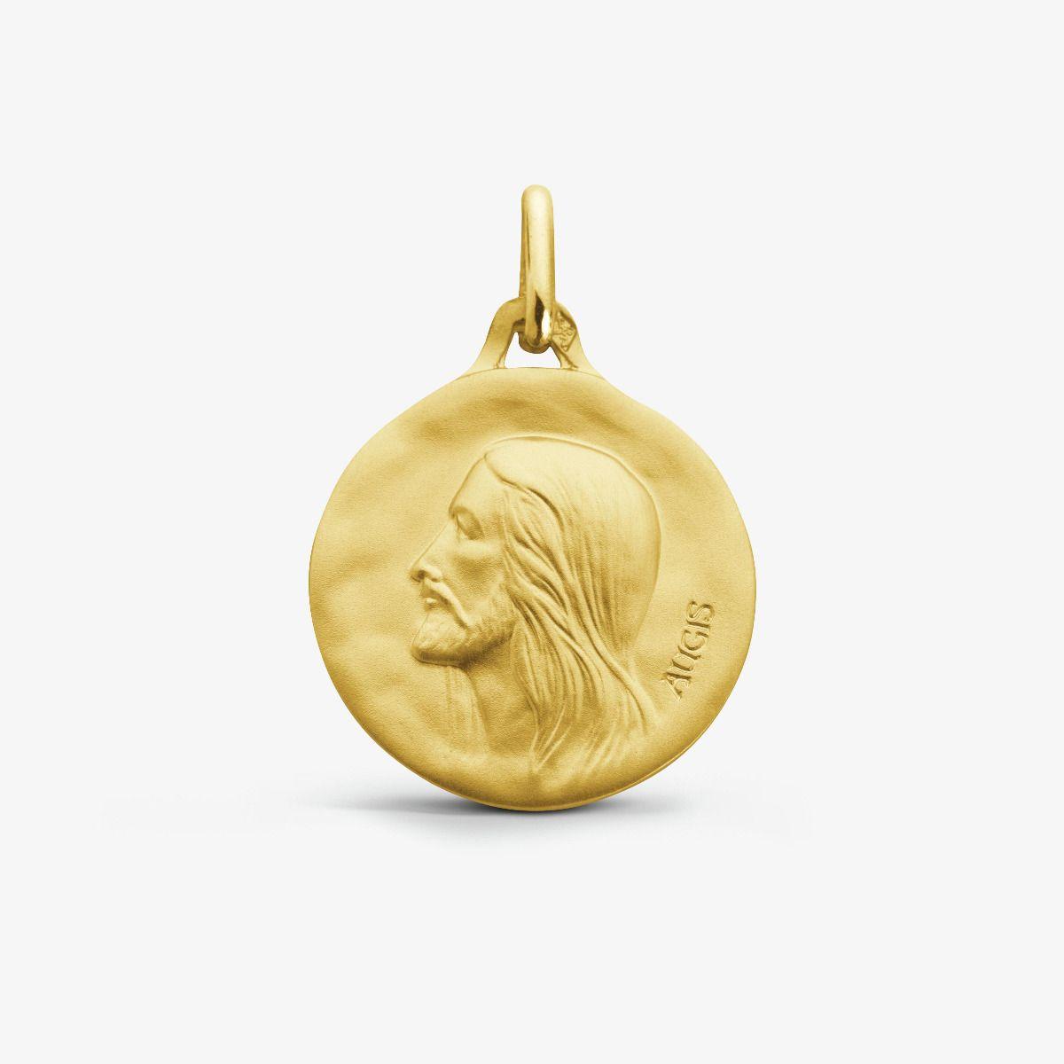Médaille Christ Or Jaune 18 carats - 18 mm