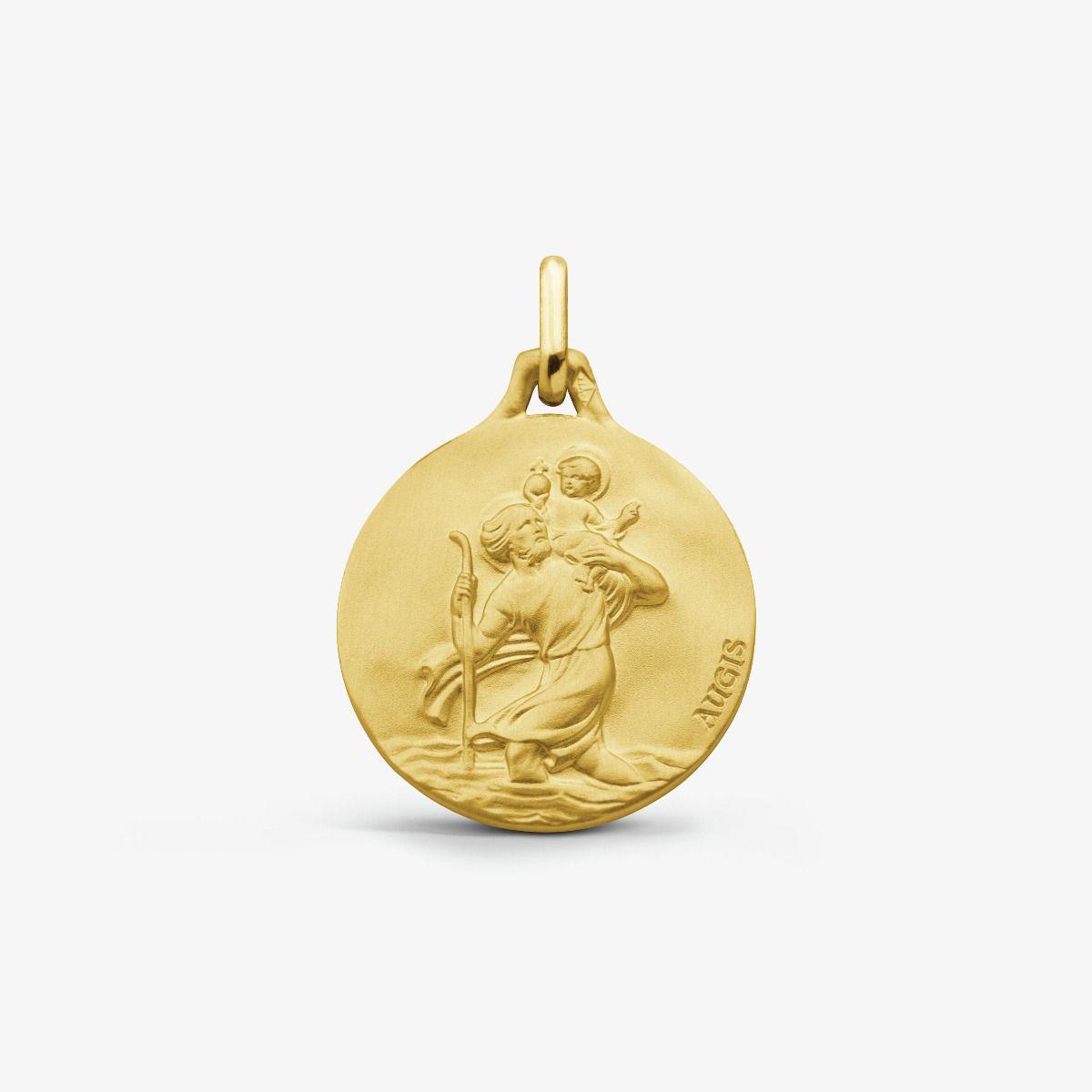 Médaille Saint Christophe Or Jaune 18 carats - 16 mm