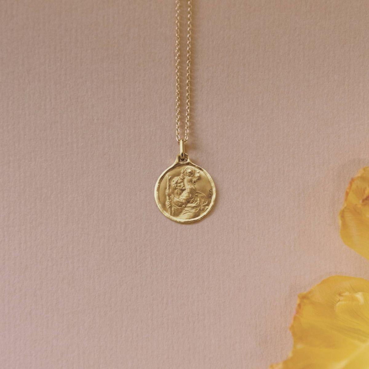 médaille Saint Christophe 18mm avec bord