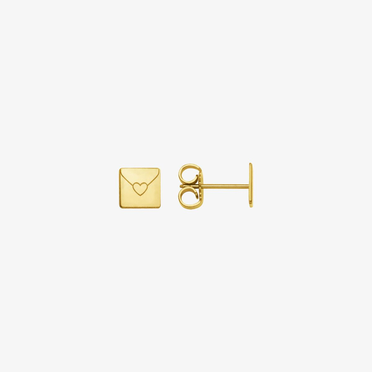 Boucles d'oreilles Enveloppe Or Jaune 18 carats
