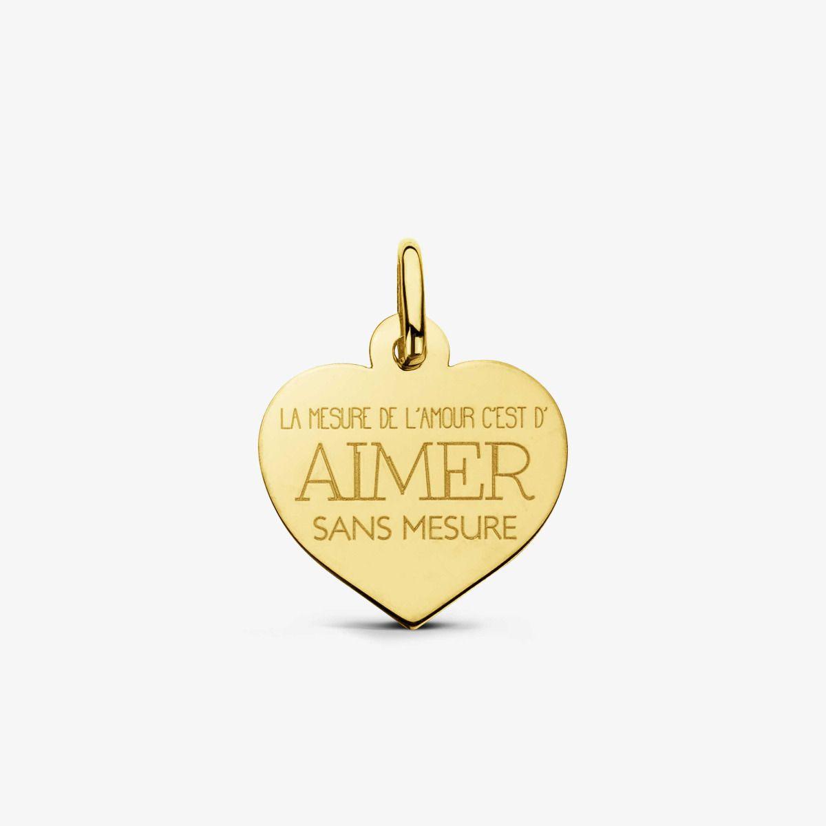 Pendentif Aimer Or Jaune 18 carats - 16 mm
