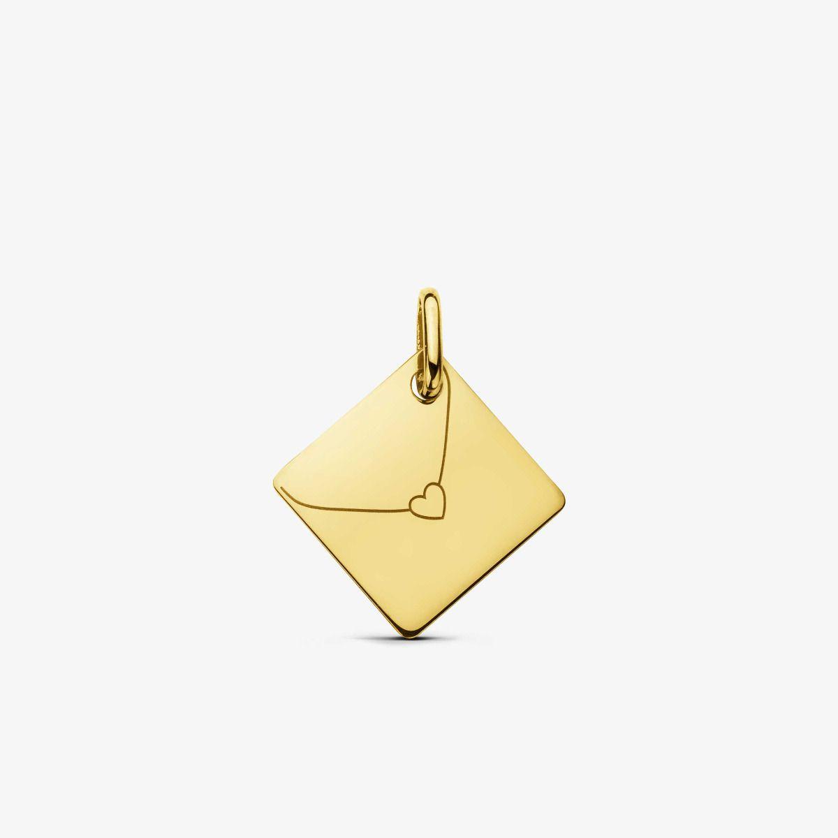 Pendentif Enveloppe Or Jaune 18 carats - 13 mm