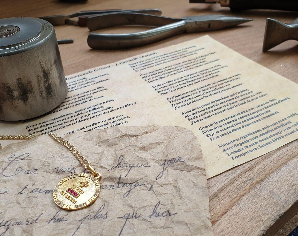 La Médaille d'Amour fabrication Augis